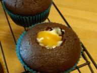 Filled cupcake!