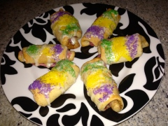 King's Cake Rolls Final display