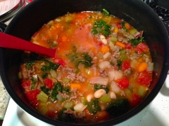 Soup simmering